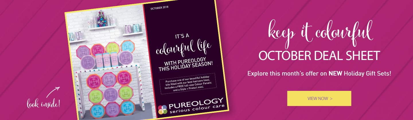 Pureology's Dealsheet for the latest deals and launches