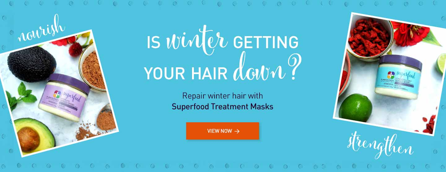 Repair Winter Hair with Superfood Treatment Hair Masks for dry or damaged hair