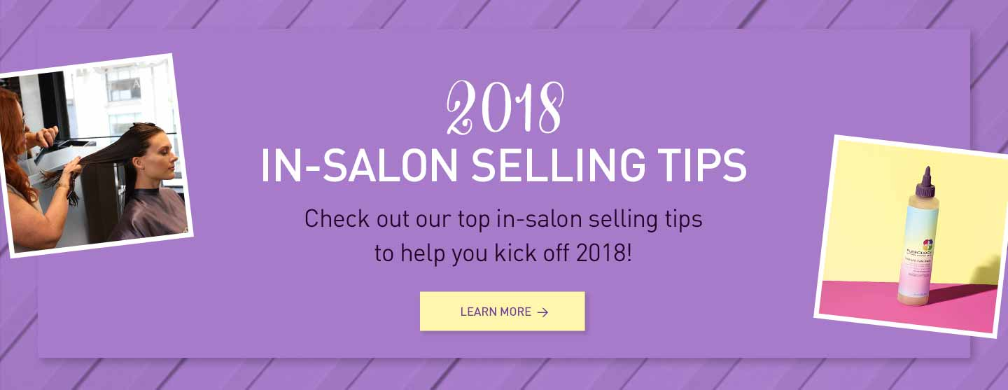 Read Pureology in-salon selling tips
